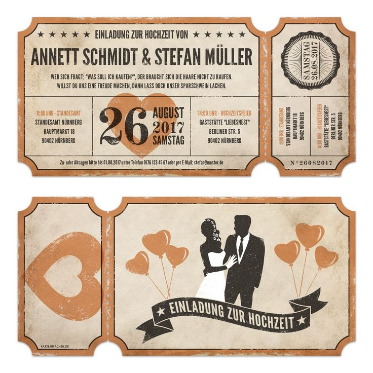 Lasergeschnittene Hochzeitseinladungen   Vintage Ticket Luftballons # Hochzeit #einladung #hochzeitseinladung #invitation #vintage
