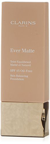 Clarins Ever Matte Foundation Oil-Free SPF 15 110 Honey -- To view further for this item, visit the image link.