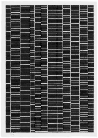 Black tiled pattern with white outlines