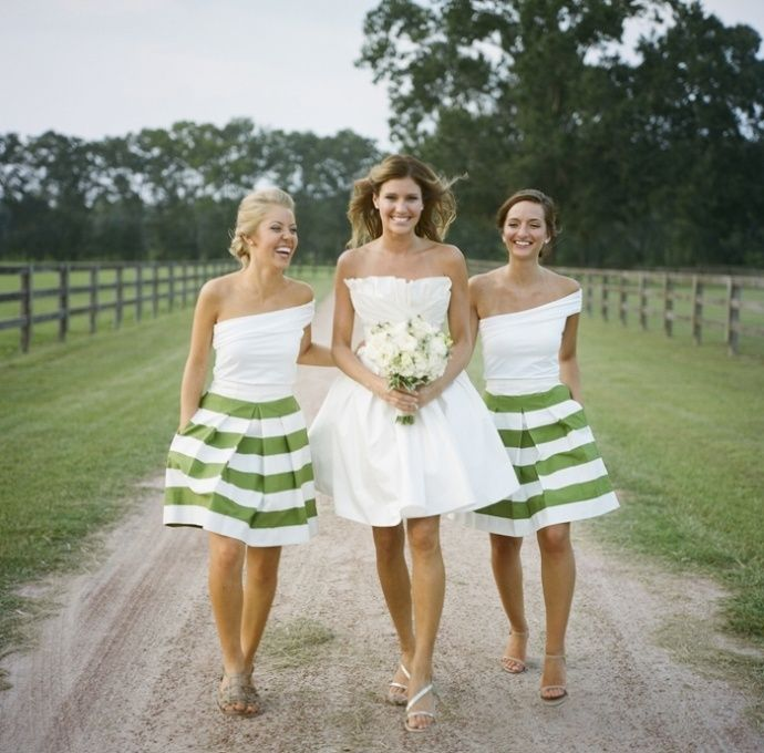 Unique bridesmaid dresses in stripe and polka dot prints - Wedding Party
