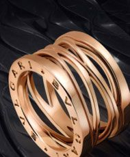 At Britto Charette, we are big fans of the late Zaha Hadid. We love this BVLGARI B.zero1 ring that she designed. Its twisted gold pattern was inspired by Rome's Colliseum.