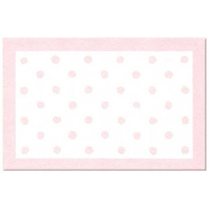 Pink Polka Dot Rug