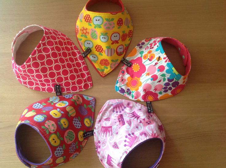 Bibs! Hand made selection of bibs with soft fleece backing to stop damp tops