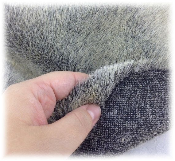 Italian SYNTHETIC fur plush fabric IS-BL13 two by StudioAnnaGalli