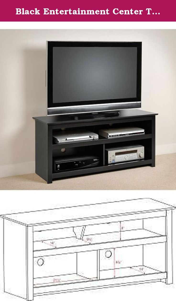 Black Entertainment Center Tv Stand Console for Flat Screens , Plasma and Other Brands. A Great Console. Sale. Easy Blends with Other Furniture Made of Wood. A High Quality Console Table. Great for Dining Room, Living Room or Bedroom Viewing Storage. Showcase your audio/video components with style with this flat-panel plasma/LCD TV console. This sleek console holds TVs up to 150 pounds and, with four storage compartments, has room to spare for your DVD player, gaming consoles and other...