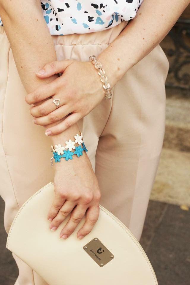 Handmade flower bracelets