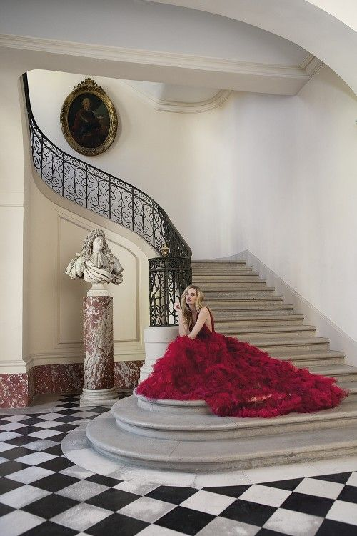 The Charmed Life of Lauren Santo Domingo by Sophie Carré for Town & Country Magazine UK Autumn 2015 - Marchesa Pre-Fall 2015 gown