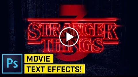 Stranger Things Intro Title Effect Photoshop CC http://videotutorials411.com/stranger-things-intro-title-effect-photoshop-cc/ #Photoshop #adobe #lightroom #graphicdesign #photography