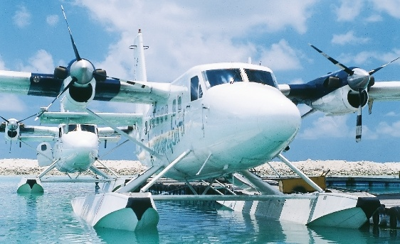 Male Maldives seaplane airport - so exciting - about 45 minutes flight to Thudufushi - bliss ...