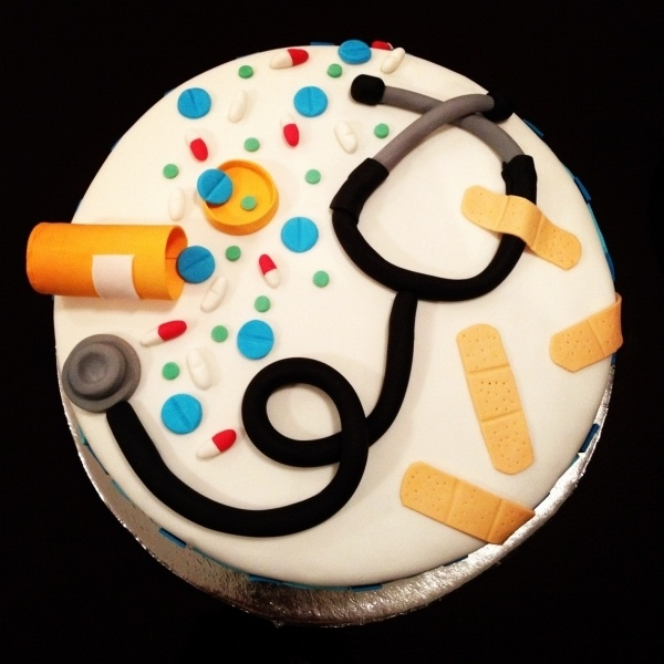 Doctor's Retirement Cake  Could be for a new nurse or doctor too!
