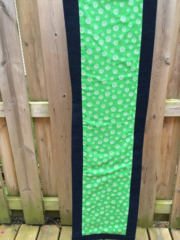 Table runner, Outdoor table runner, Picnic Table topper, Extra Long table topper, Blue Green Table Runner, Green Blue Table Runner, Denim by Handcrafteditemshop on Etsy