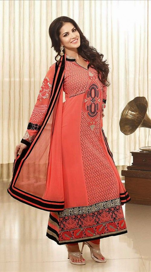 Bollywood Actress In Peach Long Length Anarkali Suit 2FD3166551