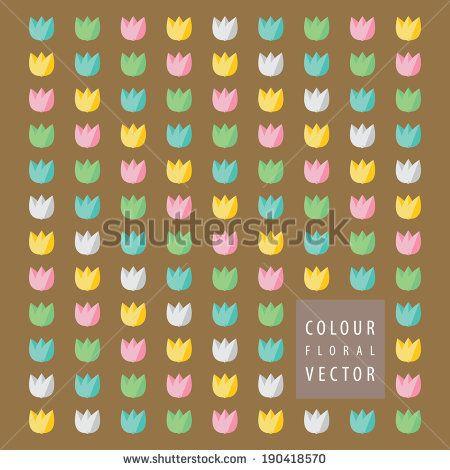 colorful flower tulips patterns http://www.shutterstock.com/pic-190418570/stock-vector-colorful-flower-tulips-patterns.html?src=kf6DuYeydaJbeAU9sja52A-1-19