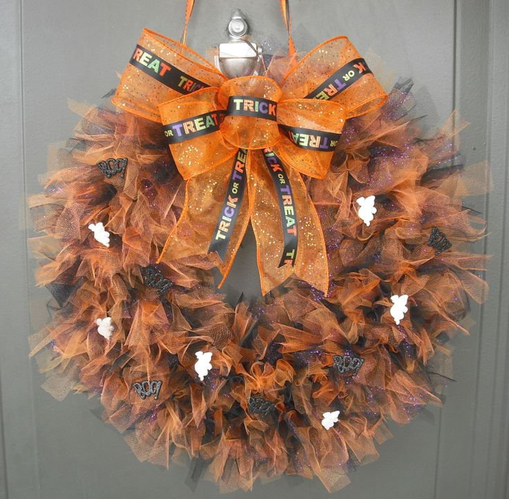 wreayh photos | Halloween Tulle Wreath with Embellishments by JustBuyChance