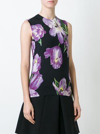 Dolce & Gabbana топ с цветочным принтом