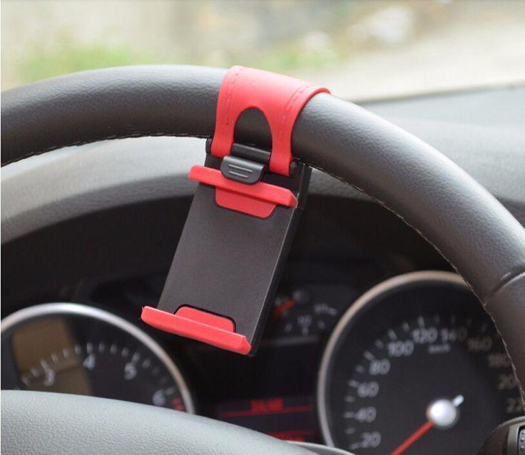 Universal Car Steering-wheel Mobile Phone Holder Bracket for iPhone 5S 5C 6 6S Plus xiaomi note3 mi5 5S Plus 3s Smartphone GPS