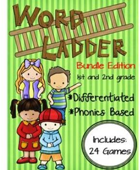 Differentiated word ladders that are phonics based. 24 games in all: short vowels, long vowels, digraphs, diphthongs are all included!
