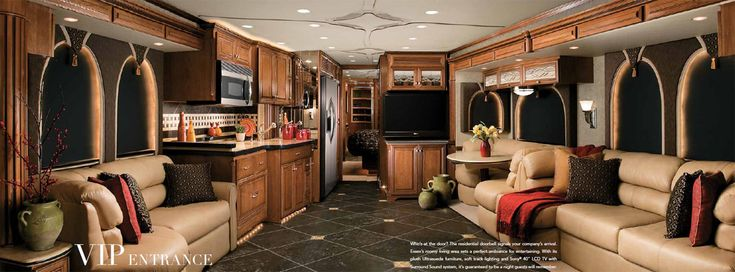 luxury rv home interior | Newmar Essex diesel pusher luxury motorhome interior - small picture ...