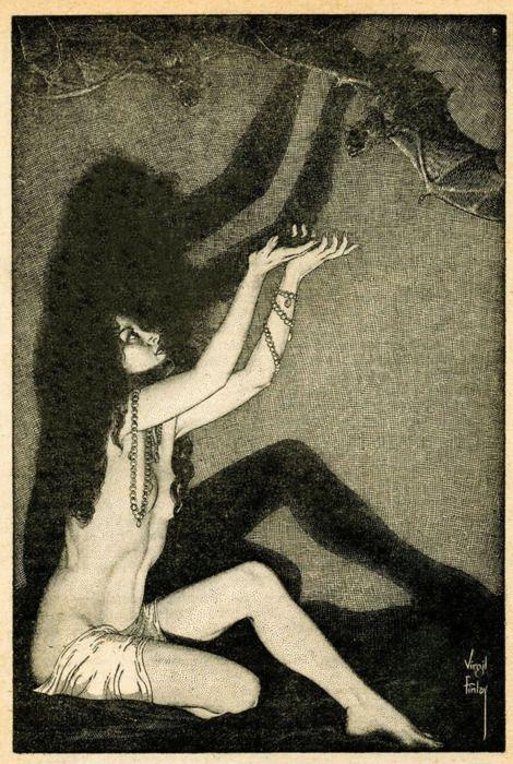 Virgil Finlay #shadows: Virgilfinlay, The Artists, Black Angel, Bats, Illustrations, August 1952, The Queen, Dark Dreams, Virgil Finlay