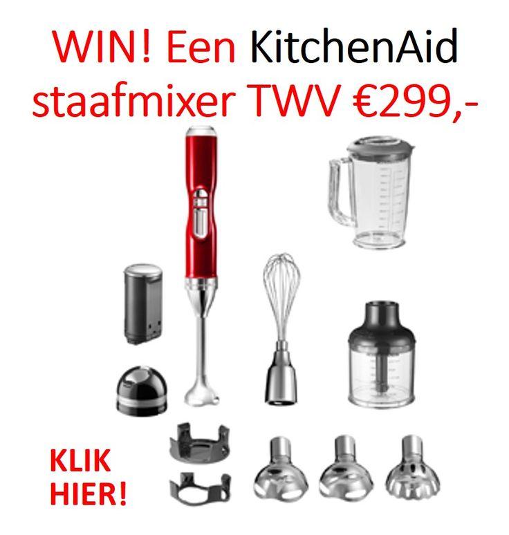 Win een KitchenAid draadloze staafmixer met uw-woonmagazine!