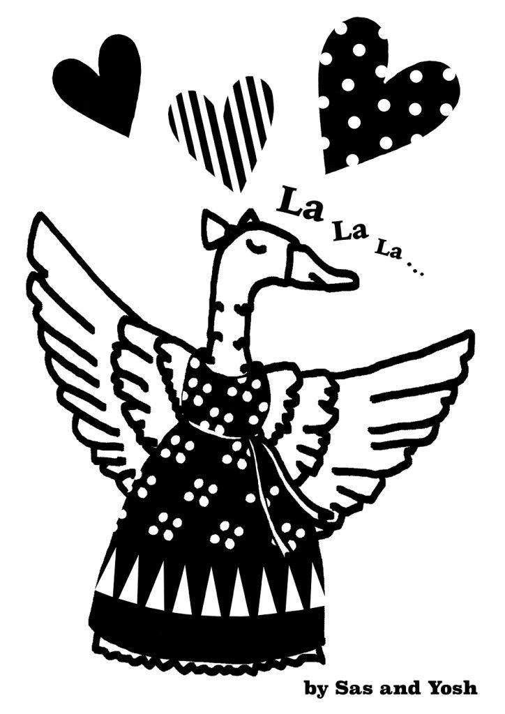 SasandYoshxJebrille Wallsticker Collection-Duck-1
