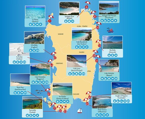 Best beaches in Sardinia Infographic