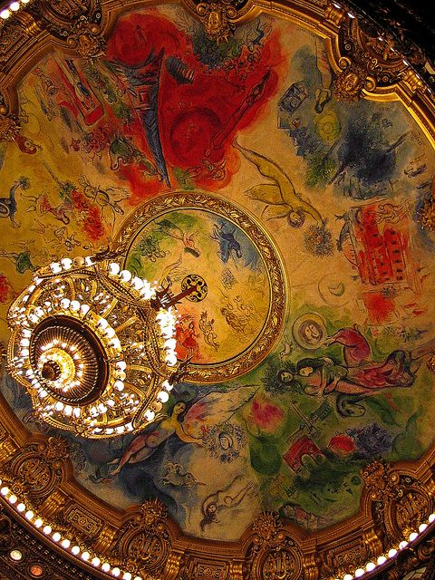 The Opera Garnier in Paris, #France.( Chagall ) #garnier #France #Paris #pariscityvision #visiterparis n #tour #tours #visit #travel #voyage #tourism #opera #operas #spectacle #music #show