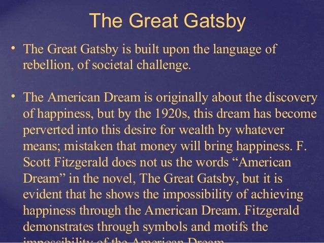 American Dream Essay Conclusion New On The Quaker Vision Of Gospel Order Quote Definition Quotes Great Gatsby