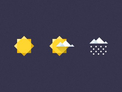 Geometric Weather Icons by U-djinn