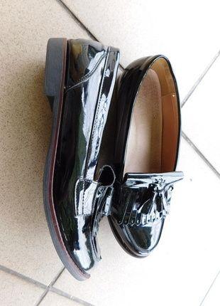 Kup mój przedmiot na #vintedpl http://www.vinted.pl/damskie-obuwie/polbuty/14369679-cink-me-czarne-mokasyny-lakierki-41