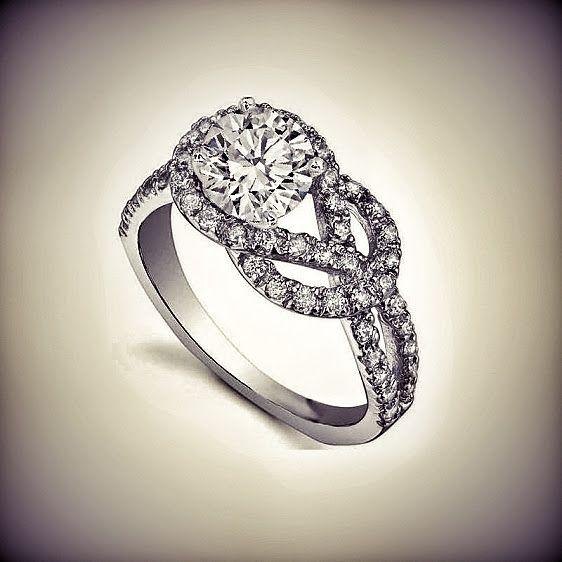 love knot diamond engagement ring love pinterest
