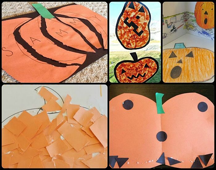 fall pumpkin handprint craft for kids – write their names and ages in the vines …