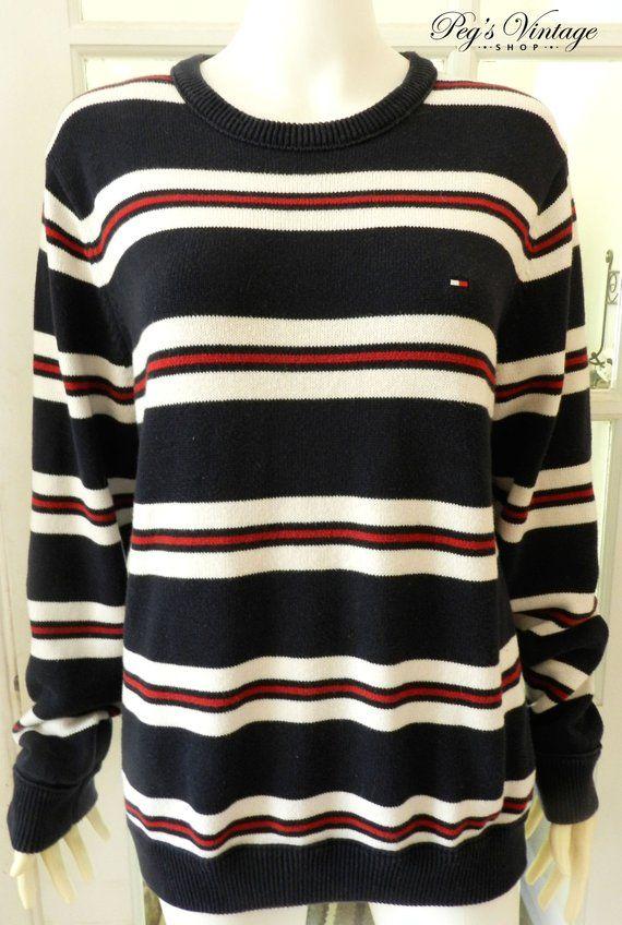 Tommy Hilfiger Striped Pullover Sweater   Sweatshirt 5cb465fd1