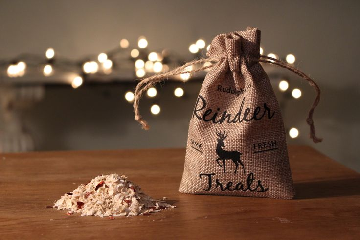 Christmas Eve is a magical night with the excitement of Father Christmas soon to come! Make it even more special by sprinkling this packet of Magic Reindeer Food outside before bedtime. As Santa's Reindeer fly this will guide them to your home! This comes in a gorgeous rustic hessian bag which can be personalised with your child's name on the bottom. (Not for human consumption)