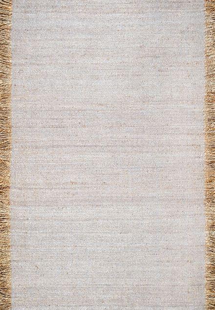 Rugs USA Grey Arenite Flatweave Solid Tassel Rug