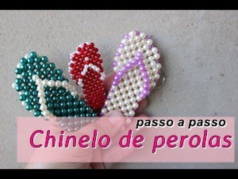 NM Bijoux - Chinelo de Perolas - passo a passo   NM Bijoux - Flip-Pearls - step…