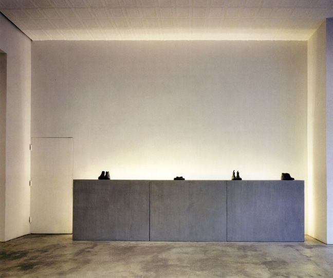 Interior of the Helmut Lang store in NYC by Gluckman Mayner Architects.