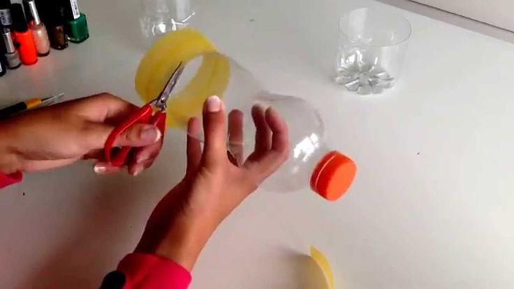 Armband knutselen met lege plastic flessen