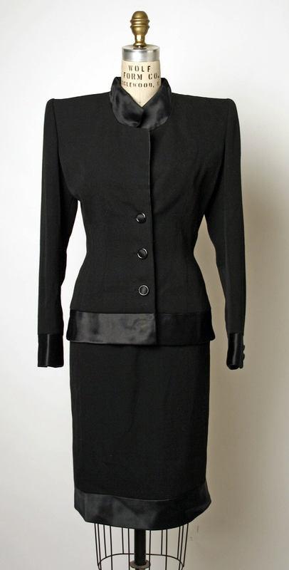 Evening dress Valentino (Italian) ca. fall/ winter 1989 silk, wool, plastic
