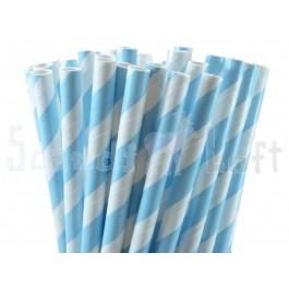 Retro straws blue stripes ♥