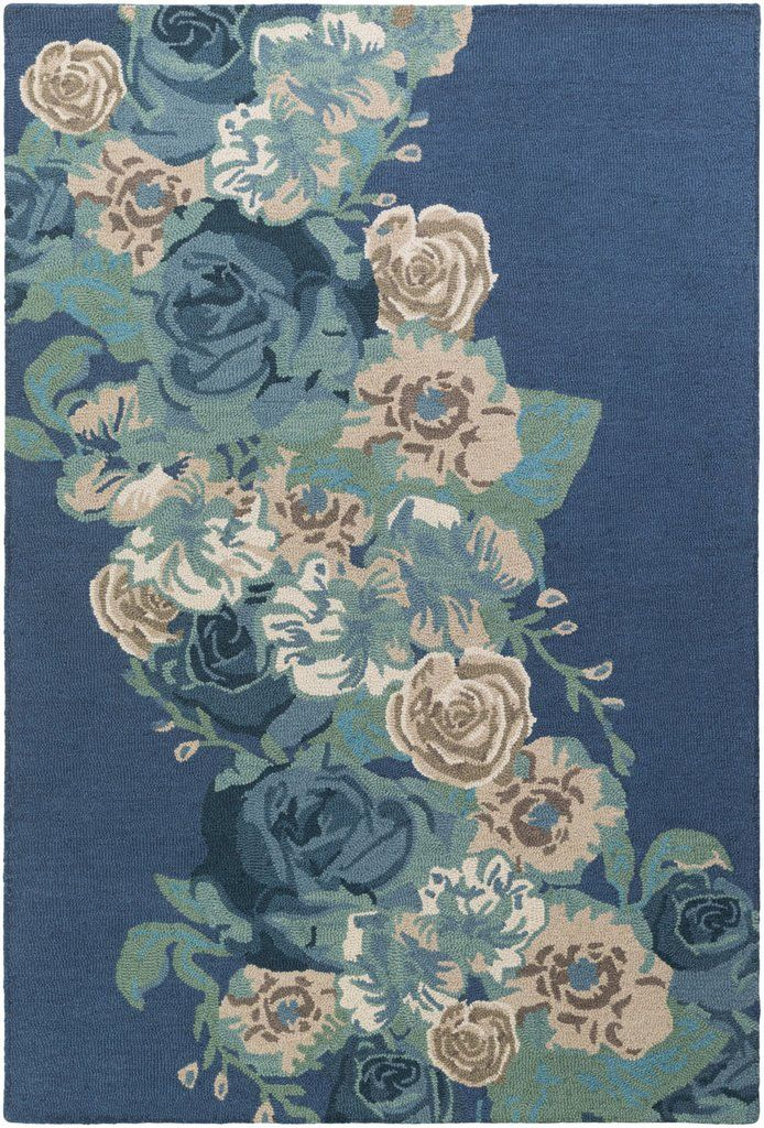 The BOT-2489 area rug from Artistic Weavers features a 100% Wool pile and Floral pattern.It measures 4ft. X 6ft.. Main color in this area rug is Blue. Made using a Hand Tufted technique this rug will
