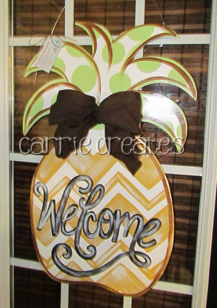 67 Best Images About Painted Wood Pineapples On Pinterest