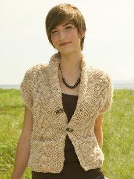 85 best images about Knitting-adult-short sleeved cardi on Pinterest Vests,...