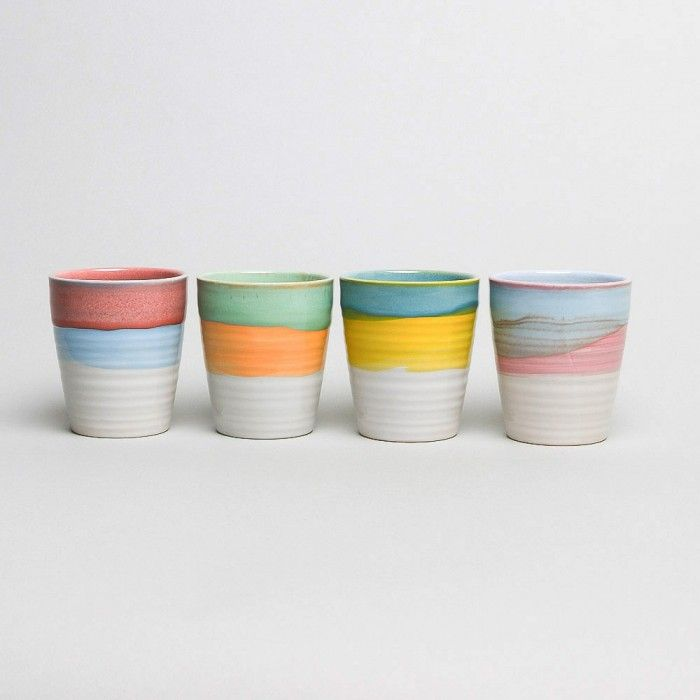 Klevering Imperfect Mugs Set of 4, Small
