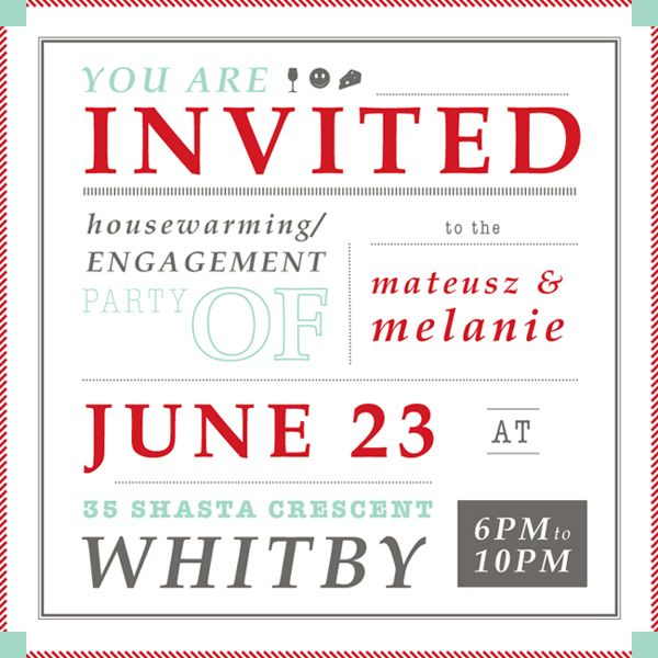 52 best Engagement\/Housewarming Party images on Pinterest - housewarming invitation template