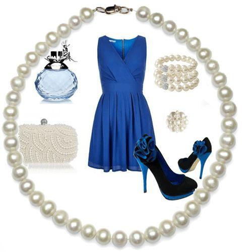 Платье с запахом, с клатчем и украшениями из жемчуга