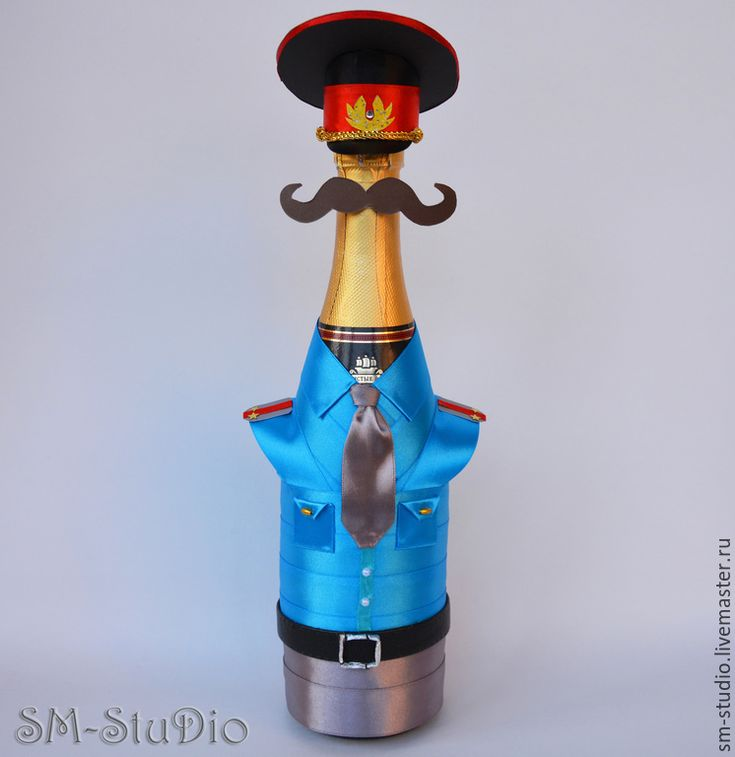 Купить Чехол на бутылку 'Милиционер'. Подарок мужчине, начальнику - милиция, милиционер, коп, полицейский