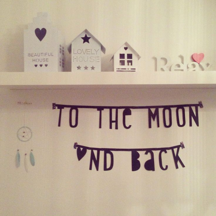 Slaapkamer wordbanner ideas pinterest the moon and tips - Baby slaapkamer deco ...
