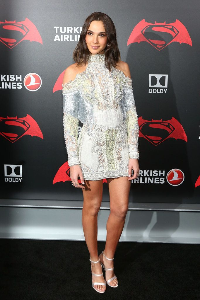 Gal Gadot Balmain Dress at Batman v Superman Premiere 2016 | POPSUGAR Fashion