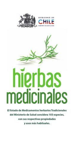 Catalogo de plantas y hierbas medicinales araucania chile for Hierbas y plantas medicinales